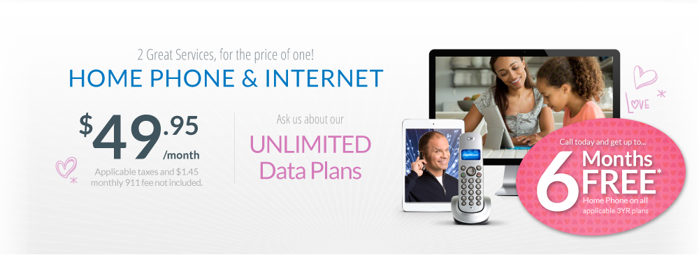 Start saving this Spring with a Comwave Home Phone + Internet Bundle for only $49.95 per month! You'll get unlimited local calling and unlimited data! -- 6 Months FREE Home Phone --