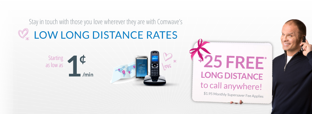 Sign up today and you pay the... lowest long distance rates... even from your mobile phone. No matter where you call, no matter what rate your currently pay, we'll beat it... That's our Lifetime Rate Guarantee!  -- $25 FREE Long Distance --