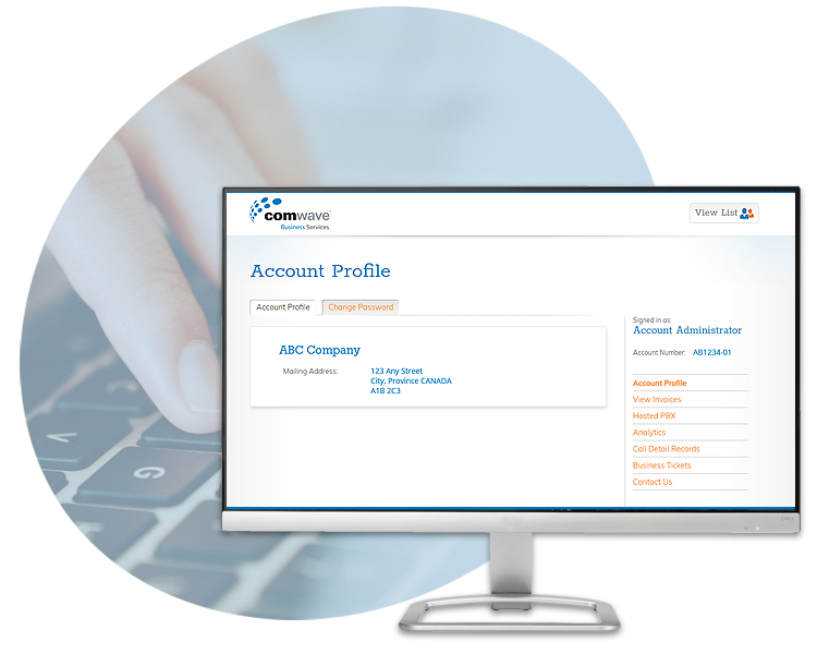 Comwave User Manager Portal