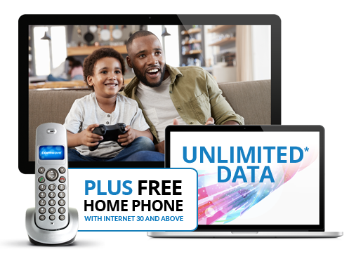 Home Internet, TV and Phone Service Unlimited Data